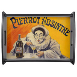 Vintage French Pierrot Absinthe Advertisement Serving Tray