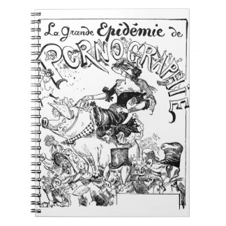 Vintage French Political Cartoon Notebook