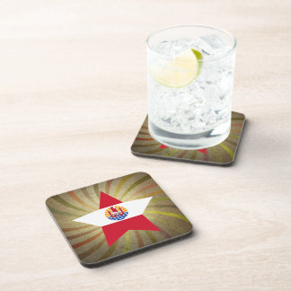Vintage French Polynesian Flag Swirl Coaster