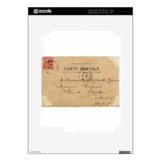 Vintage French Post Card Decals For iPad 2