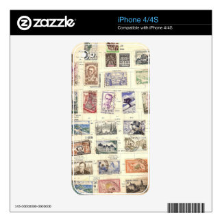 Vintage French Postage iPhone 4 Skins