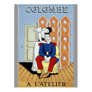 Vintage French postcard Colombe