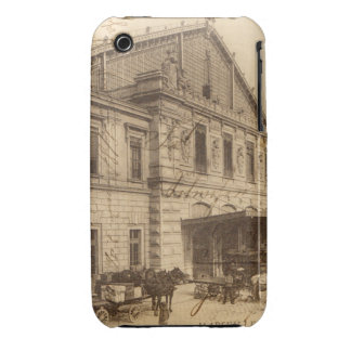 Vintage French Postcard Marseille Collage iPhone 3 Cases