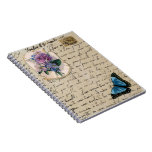 Vintage French Postcard Note Book