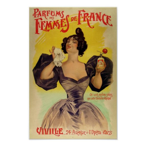 Vintage French Poster advertising perfume