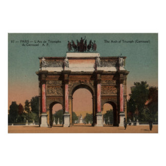 Vintage French Poster - Arc of Triumph (Carrousel)