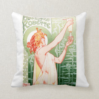 Vintage French poster design Throw Pillow