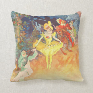 Vintage French Poster La Muse Throw Pillow