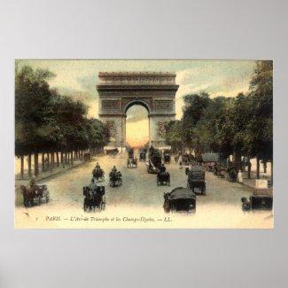 Vintage French Poster - L'Arc-de Triomphe