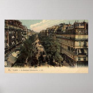 Vintage French Poster - Le Boulevard Montmartre
