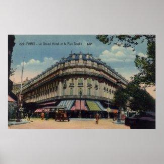 Vintage French Poster - Le Grand Hotel et la Rue S