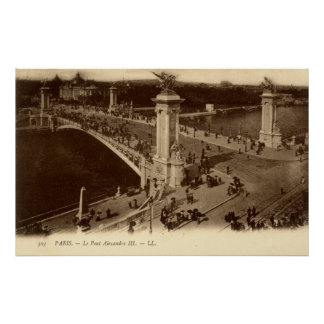 Vintage French Poster - Le Pont Alexandre III