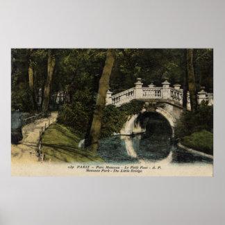 Vintage French Poster - Monceau Park