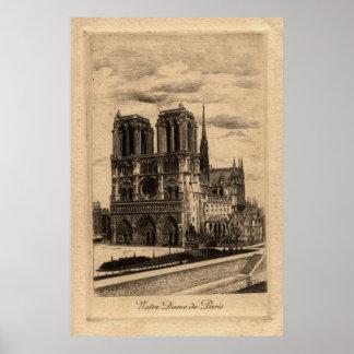 Vintage French Poster - Notre Dame de Paris