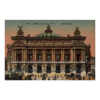 Vintage French Poster - Opera House Paris France