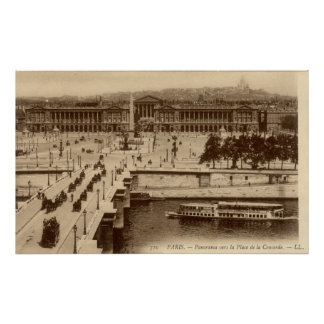 Vintage French Poster - Panorama Concorde