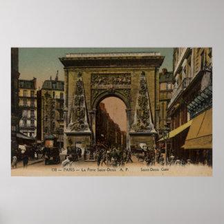 Vintage French Poster - Saint Denis Gate