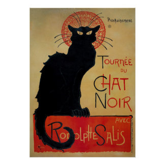 Vintage French poster, the Black Cat Poster