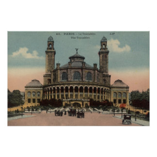 Vintage French Poster - The Trocadero