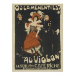 Vintage French Posters - Cafe Riche