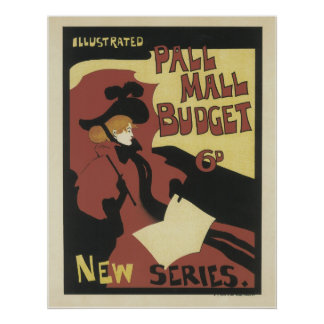 Vintage French Posters - Pall Mall Budget