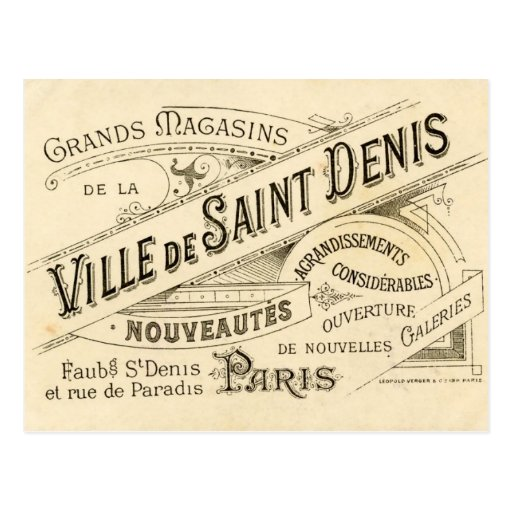 Vintage French Publicity Postcards