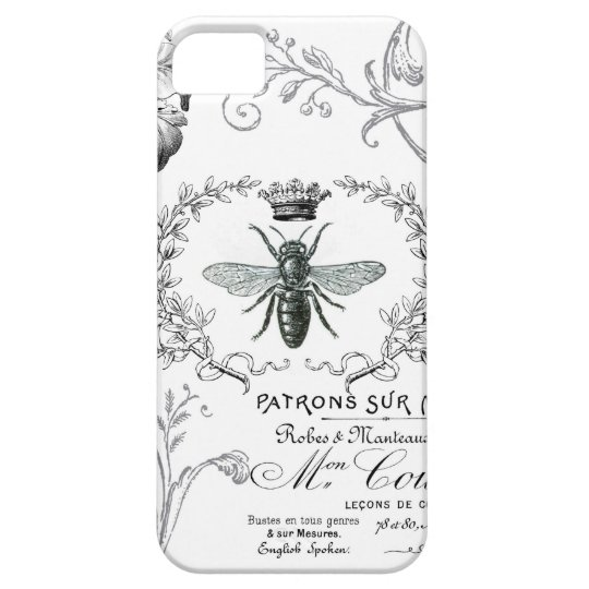 Vintage French Queen Bee iphone 5 case