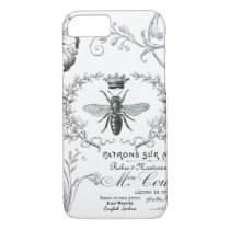 Vintage French Queen Bee iPhone 7 case