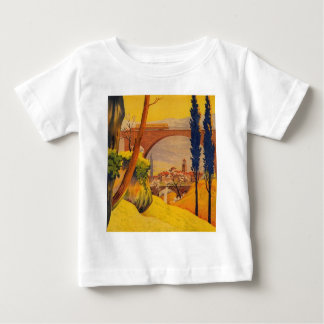 Vintage French Railroad Travel Baby T-Shirt