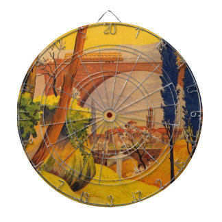 Vintage French Railroad Travel Dart Boards