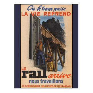 Vintage French Railroad Travel Europe Postcard