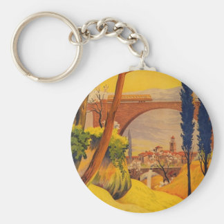 Vintage French Railroad Travel Keychain