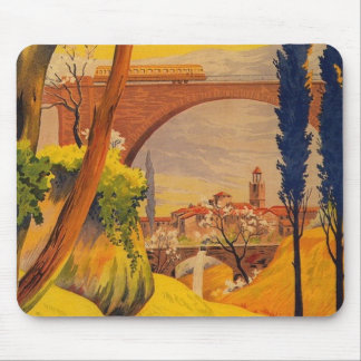 Vintage French Railroad Travel Mouse Pad