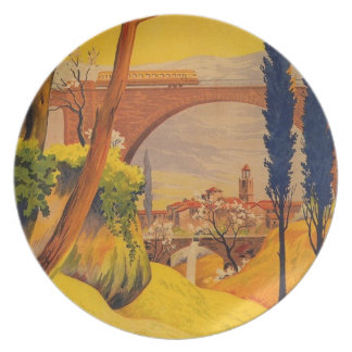 Vintage French Railroad Travel Plate