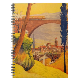 Vintage French Railroad Travel Spiral Notebook