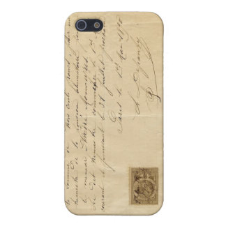 Vintage French Receipt iPhone SE/5/5s Case