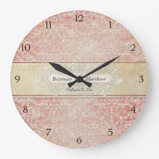 Vintage French Regency Lace Etched Wedding Clocks