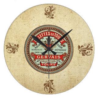 Vintage french Rillettes De Tours Clock Reloj De Pared