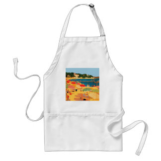 Vintage French Riviera Beach Adult Apron