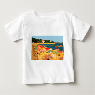 Vintage French Riviera Beach Baby T-Shirt