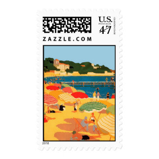 Vintage French Riviera Beach Postage