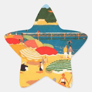 Vintage French Riviera Beach Star Sticker