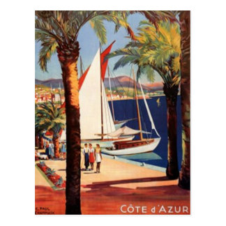 Vintage French Riviera, France - Postcard