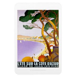 Vintage French Riviera, France - Rectangular Photo Magnet
