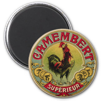 Vintage French Rooster Farm and Cheese Magnet