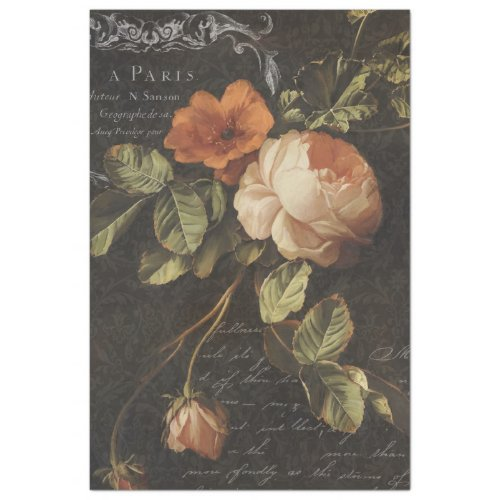 Vintage French Rose Decoupage Tissue Paper