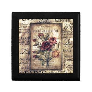 Vintage French Rose Design Keepsake Box