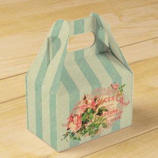 Vintage French, roses and advertising postcard Favor Box