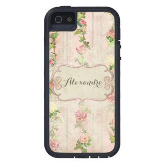 Vintage French Roses Wallpaper Distressed Antique iPhone SE/5/5s Case