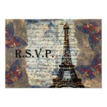 Vintage French rsvp cards